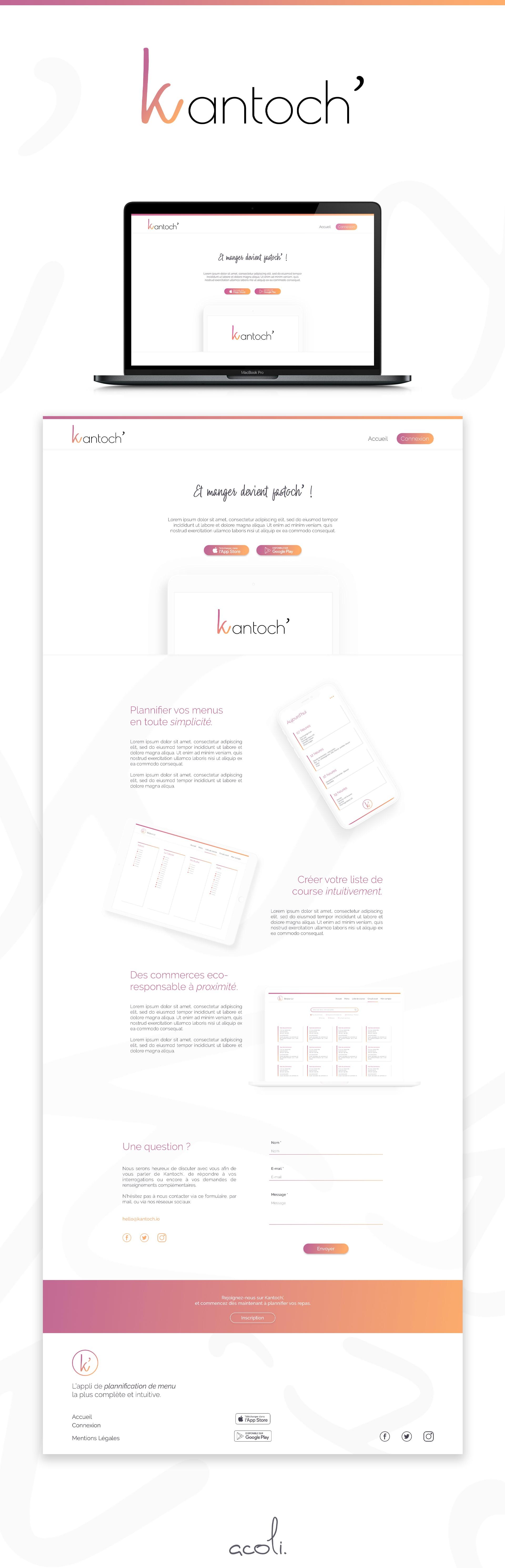Kantoch webdesign