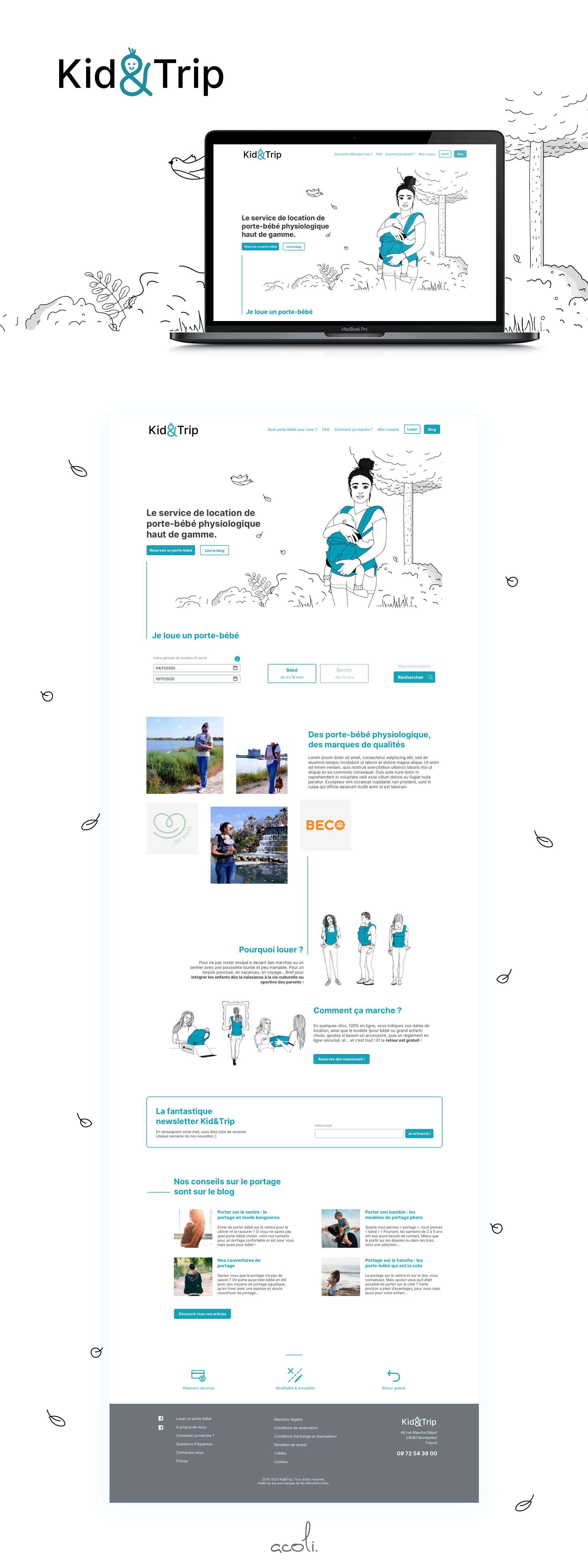 KnT présentation du web design